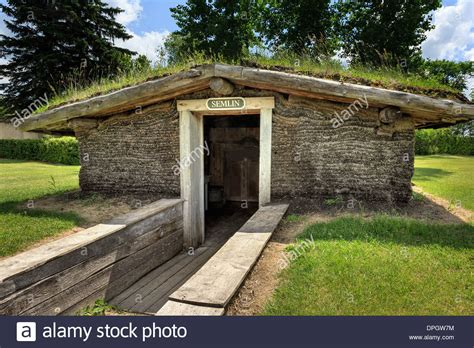 what is a sod house sod house of pioneers or semlin mennonite heritage village stock photo royalty free