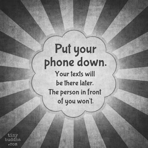 putting your put your phone tiny buddha