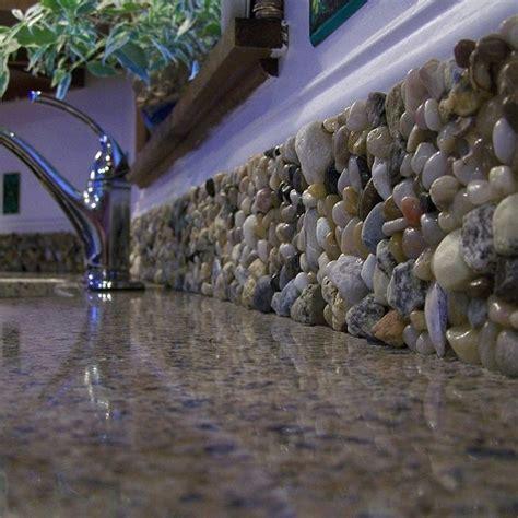 river rock backsplash rocks for kitchen backsplash s t a r d u s t decor