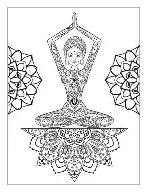 imagenes mandalas yoga yoga and meditation coloring book for adults with yoga