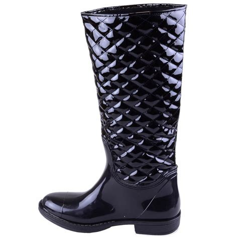 Quilted Wellington Boots by Womens Black Quilted Wellington Boots Winter Quilt