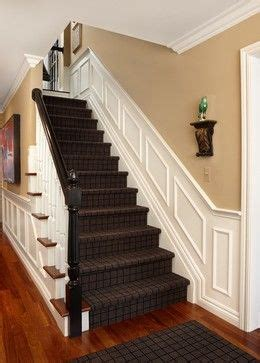 Wainscoting Up Stairs by O Brien Eclectic Staircase Detroit