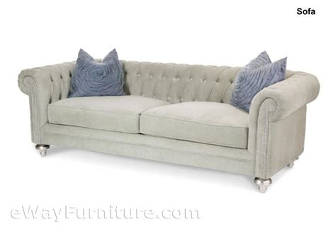 Chesterfield Crystal Tufted Sofa