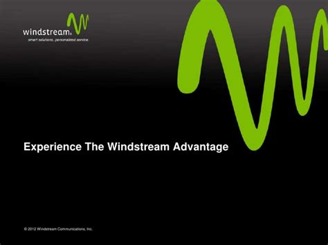 Windstream Phone Lookup 2012 Windstream Overview 1