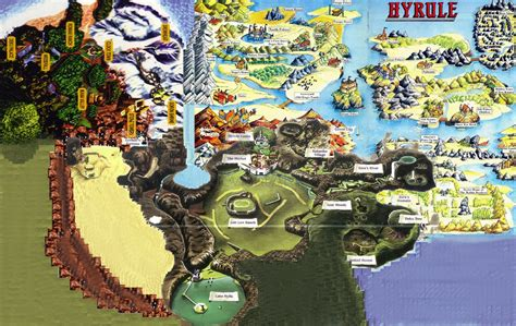 legend of zelda universe map the forbidden woods view topic combined map of hyrule