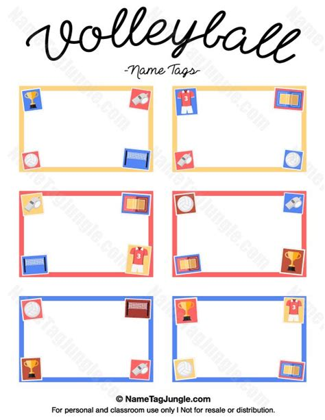 printable rules for volleyball free printable volleyball name tags the template can also