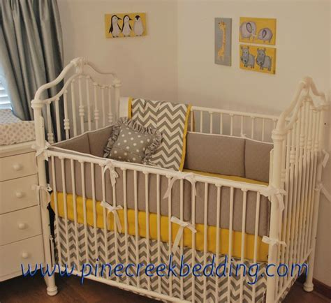 yellow chevron bedding 1000 images about grey crib bedding on pinterest dust ruffle grey and pink crib