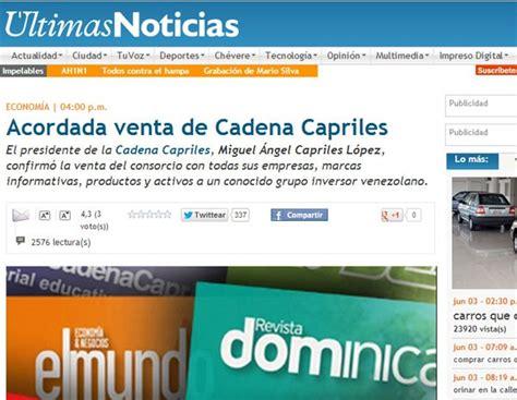 capriles ultimas noticias com ve g1 grupo dono do jornal de maior circula 231 227 o na venezuela