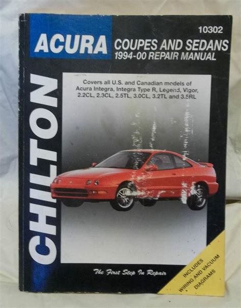 find chilton 10300 repair manual acura coupes sedans 1986 1993 integra legend vigor motorcycle purchase chiltons auto repair manual for acura coupes and sedans 1994 2000 vgc motorcycle in