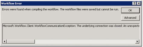 sharepoint 2013 workflow error error when i publish a sharepoint 2013 workflow