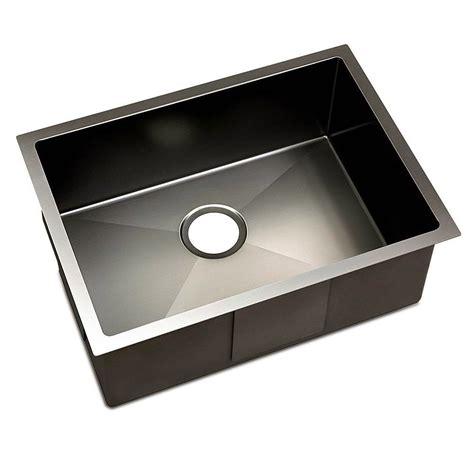 Kitchen Sinks Black Kitchen Sink With Waste Strainer Black 60 X 45cm Diy Home Warehouse
