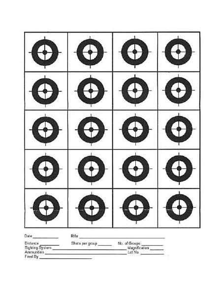 printable rimfire targets rimfire central 20 circle target targets printable