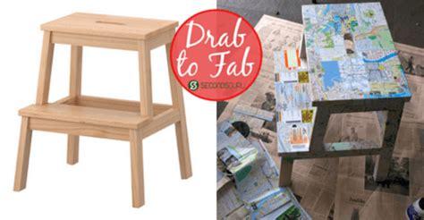 diy makeovers that transform the ikea bekvam step stool drab to fab ikea step stool makeover secondsguru
