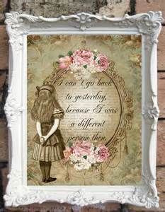 shabby chic catalog in quote print in