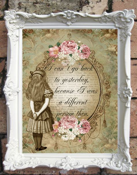 Decorations For Welcome Home Baby alice in wonderland quote art print alice in wonderland