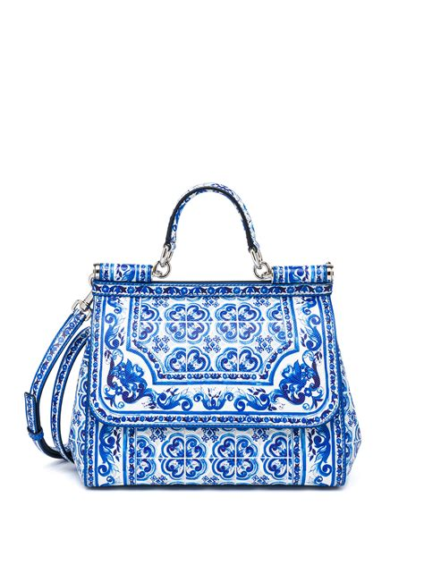 Dg Dolce And Gabbana Suzanne Satchel by Lyst Dolce Gabbana Sicily Medium Italian Tile Textured