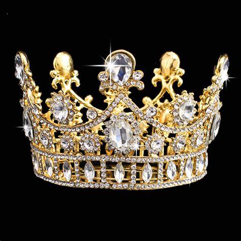 Wedding Crown gold princess rhinestone tiara crown wedding bridal prom headband