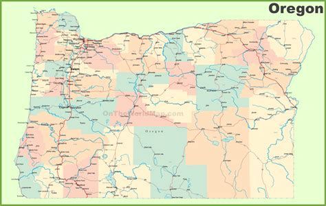 road map  oregon  cities