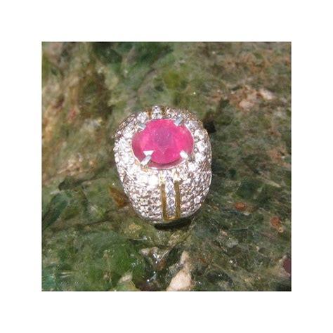 Cincin Ruby cincin perak dengan permata ruby 3 07 carat harga promo
