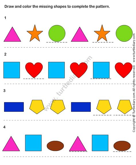 pattern matching logic pin by turtle diary on logic and reasoning worksheets
