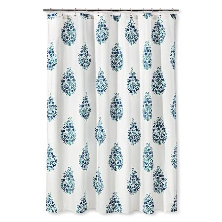 target home shower curtain paisley shower curtain threshold target
