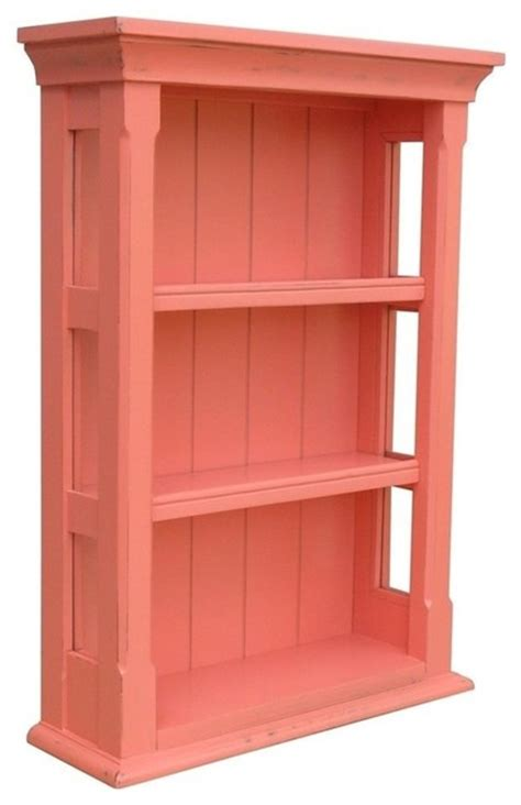 open wall cabinets pink painted hardwood open wall cabinet traditional