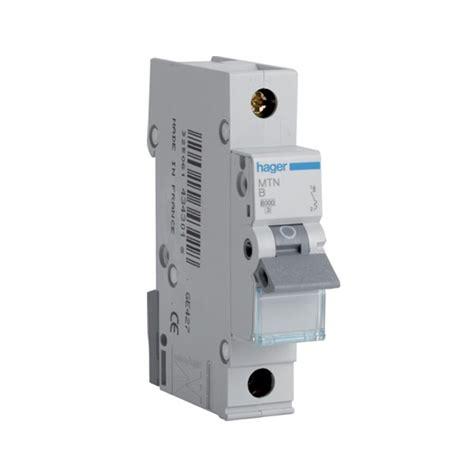 Sisir Mcb 1 Phase hager mtn150 50 type b 6ka single pole mcb at uk electrical supplies