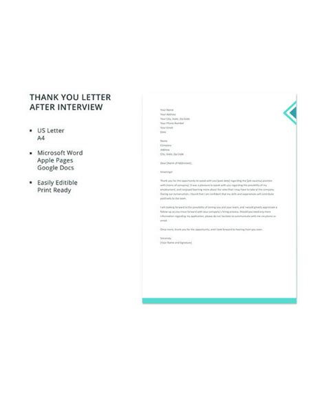 sample interview letter templates