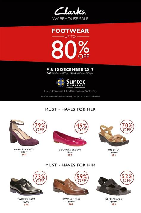 new year sale in singapore 2018 9 10 dec 2017 clarks warehouse sale clearance at suntec