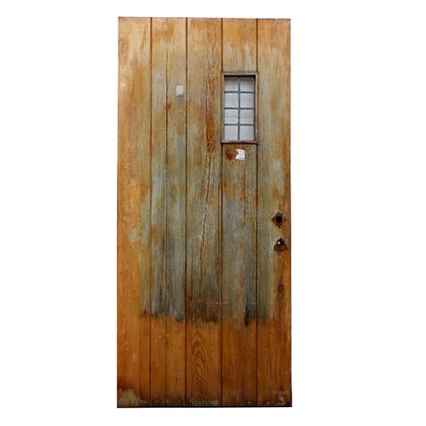 Salvaged Exterior Doors Salvaged 36 Exterior Plank Door With Window Ned141 For Sale Antiques Classifieds
