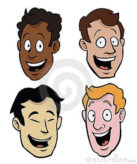 imagenes libres caras varias caras masculinas de la historieta foto de archivo