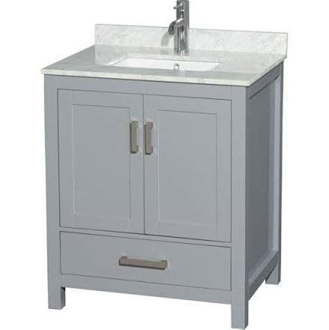 wyndham bathroom vanity wyndham collection wcs141430sgycmunsmxx sheffield 30 inch