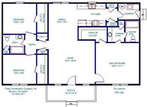 open floor plans under 1500 floorplan house plans