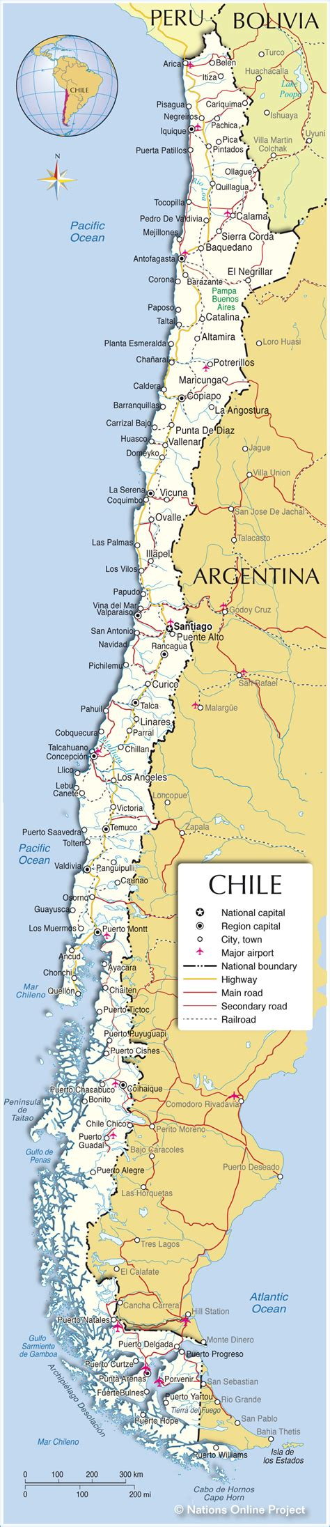 chile political map political map of chile nations project