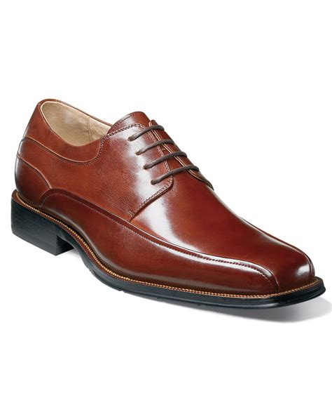 florsheim oxford shoes florsheim curtis bike toe oxfords in brown for lyst