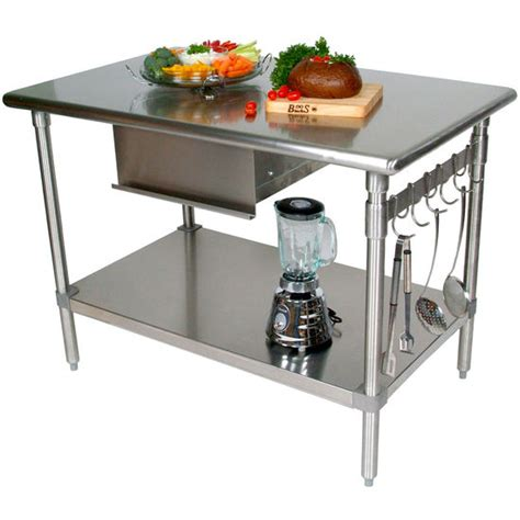 metal kitchen island tables john boos stainless steel work tables work tables