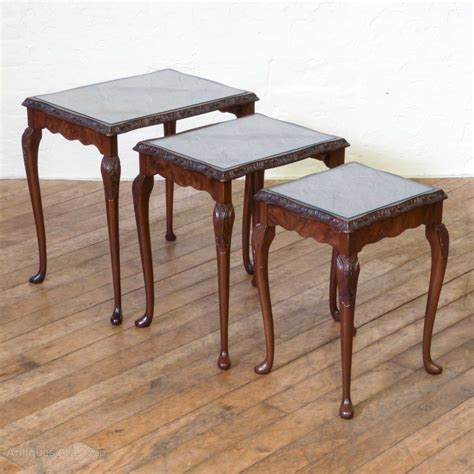 walnut nest of tables style walnut nest of tables antiques atlas