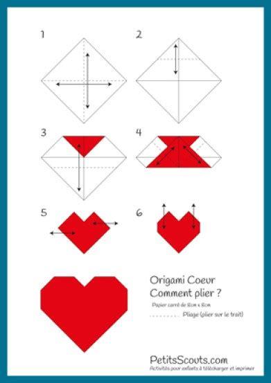 Comment Faire Les Coeurs by Origami Facile Coeur