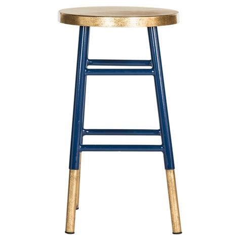 Safavieh Emery Counter Stool by Safavieh Emery 24 In Navy And Gold Bar Stool Fox3231a