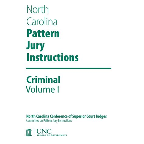 pattern jury instructions criminal case north carolina pattern jury instructions 2015 criminal