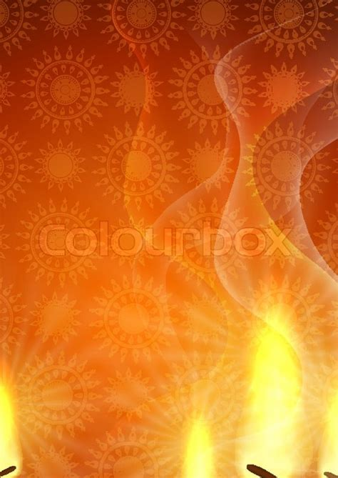 Decoration For Deepavali At Home Happy Diwali Background Stock Vector Colourbox