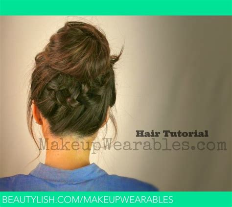 back to school hairstyles updos tutorial back to school hairstyles updos braided bun ponytail tina