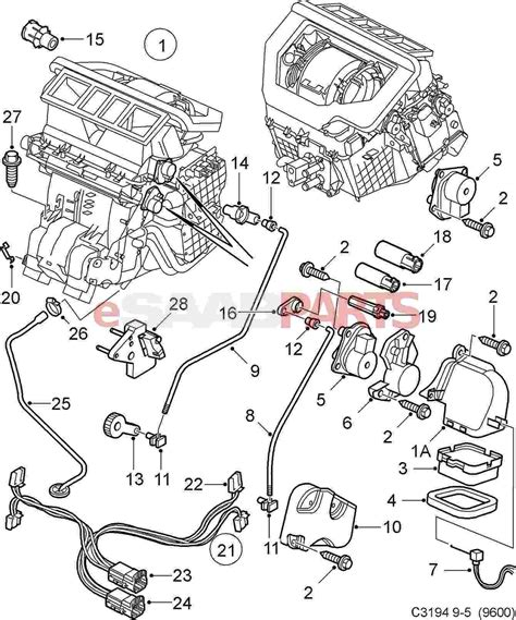 saab 93 parts diagram saab 9 3 air conditioner diagram saab auto parts catalog