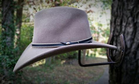 Horseshoe Cowboy Hat Rack by Horseshoe Cowboy Hat Rack Blacksmith Made Real Horseshoes