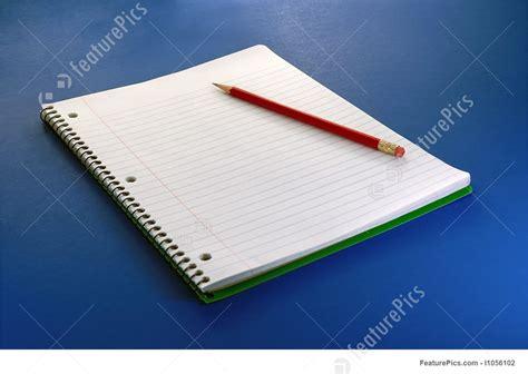 notebook  pencil stock picture   featurepics