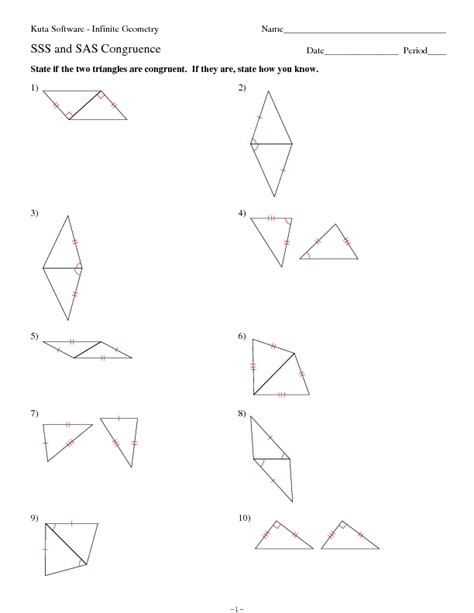 Congruence Worksheets by Angles Worksheets And Triangles On
