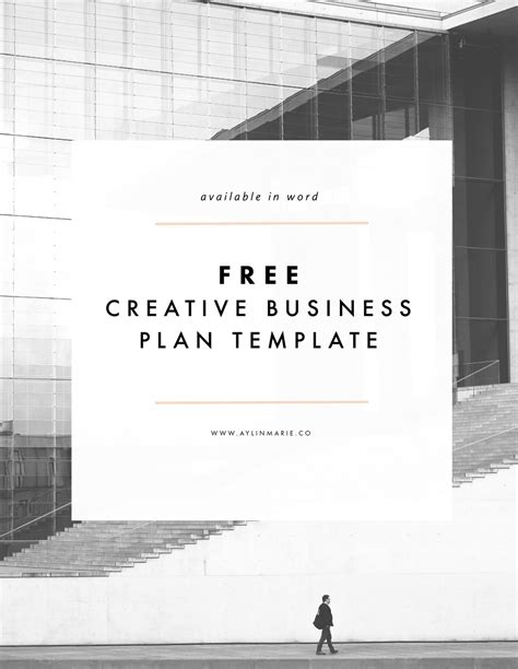 Creative Business Plan Template Free Freebie Creative Business Plan Template Aylin Marie