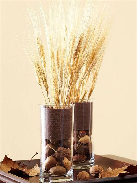 Ideas To Fill Glass Vases by Picture Of Glass Vases Filled With Various Nuts And Wheat