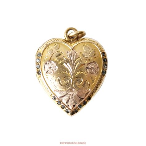 Ornate Kitchen Cabinets by Antique Gold Heart Locket Necklace