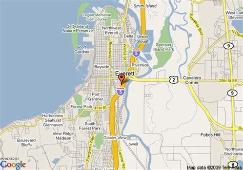 seattle map everett map of inn downtown everett everett